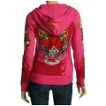 Ed Hardy Hoodies Love Heart Red For Women