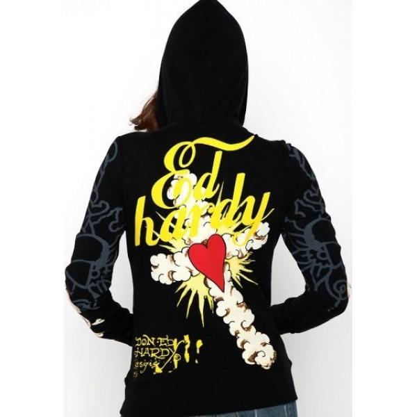 Ed Hardy Hoodies Love Kill Slowly Cross For Women