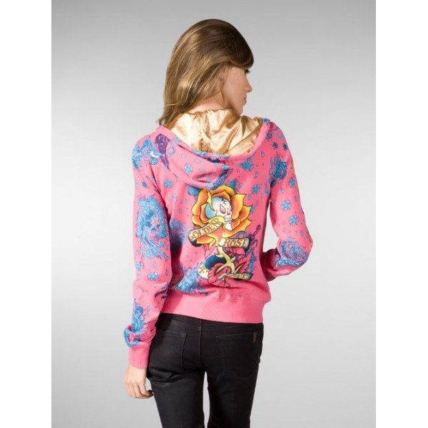 Ed Hardy Hoodies Olden Pink For Women