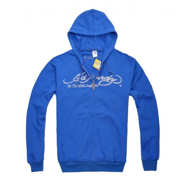 Ed Hardy Mens Clothing Canada Hoodies Blue Death