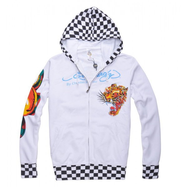 Ed Hardy Mens Hoodies Clearance UK Sale Tiger Lion