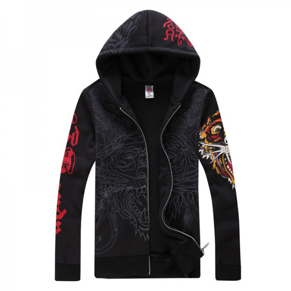 Ed Hardy UK Mens Hoodies Black Tiger Online Shopping