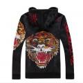 Ed Hardy UK Mens Hoodies Black Tiger Online Shopping