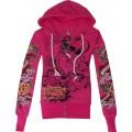 Hoodies Ed Hardy Wear For Women LKS Rose Red