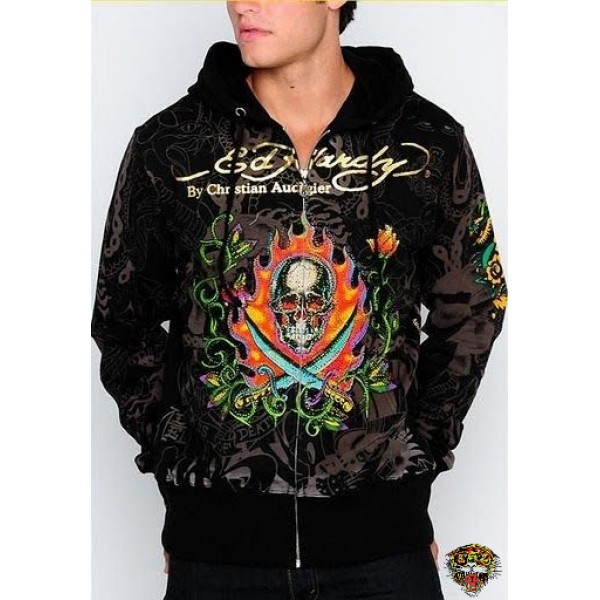 Mens Ed Hardy Flame Tiger Tatoos Hoodies UK