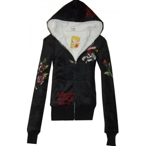 Tai Chi Don Ed Hardy Site Hoodies Girls Black