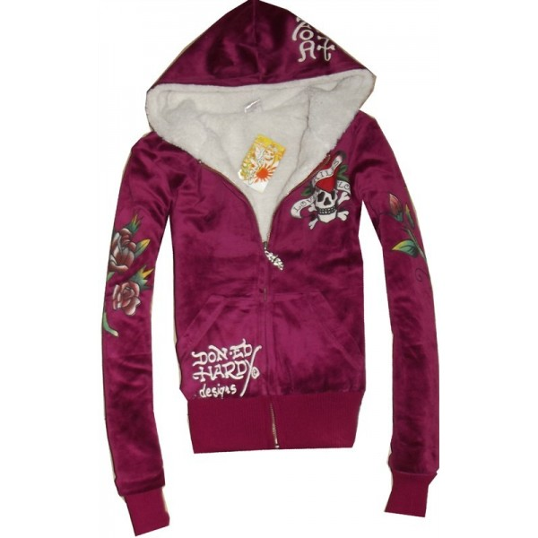 Tai Chi Ed Hardy Hoodies For Women London Purple