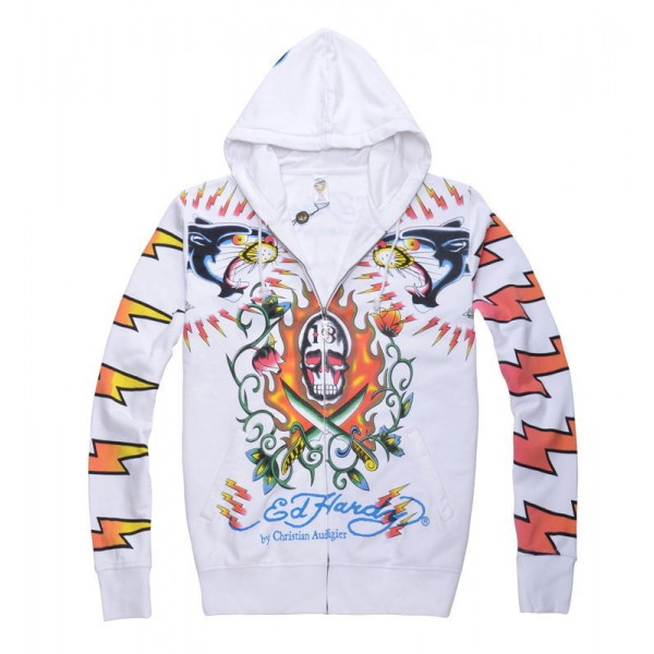 Where To Buy Ed Hardy Hoodie White Leopard Store UK