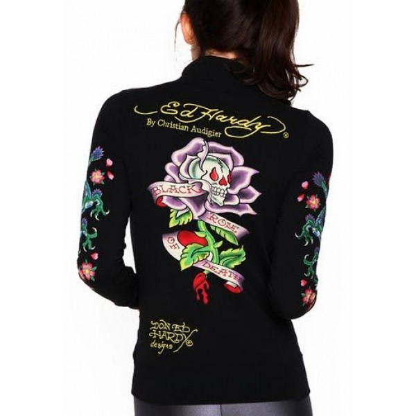 Ed Hardy Jackets Black Rose Of Death For Women