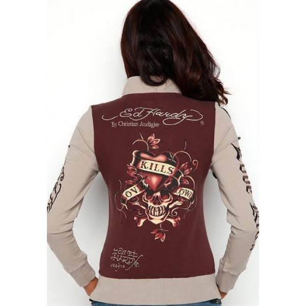 Ed Hardy Jackets Chocolate Love Kill Slowly For Women
