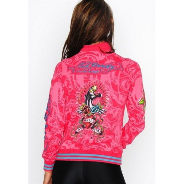 Ed Hardy Jackets Leopard Love Kill Slowly For Women