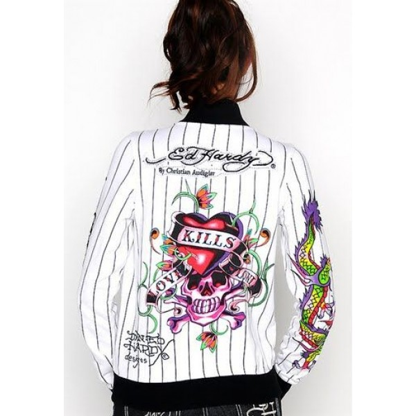Ed Hardy Jackets Love Kill Slowly Stripe For Women