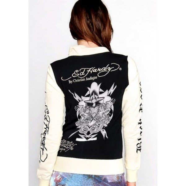 Ed Hardy Jackets Mermaid Black For Women