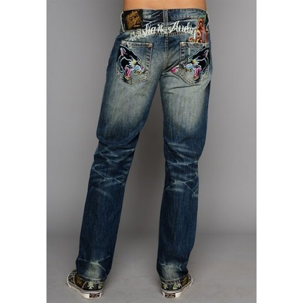 CA Ed Hardy Jeans UK Clothes Online Black Leopard