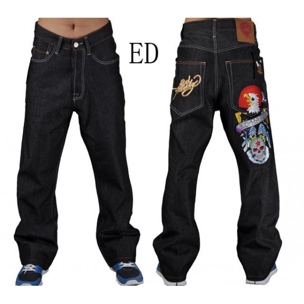 Discount Ed Hardy Jeans Eagle Skull For Men