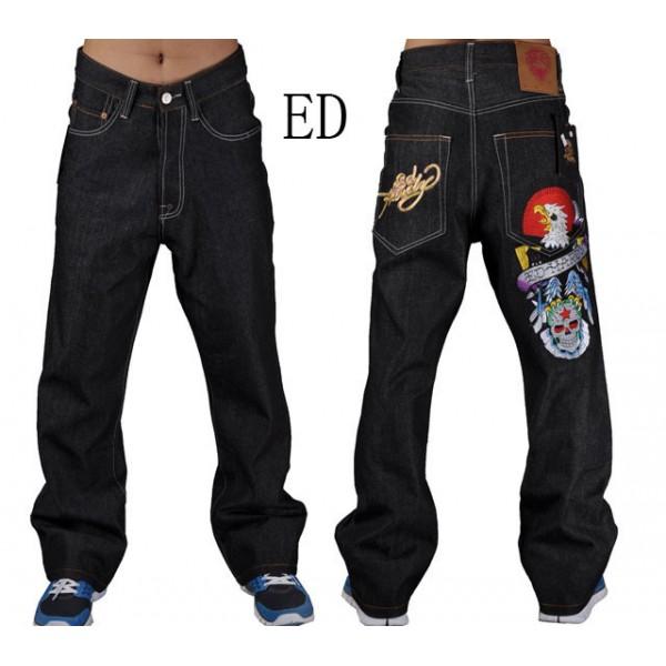 Discount Ed Hardy Jeans Eagle Skull For Men