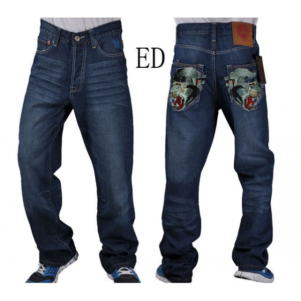 Don Ed Hardy Jeans Men Design Black Leopard