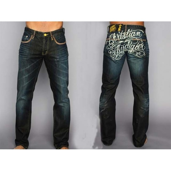 Ed Hardy CA Mens Jeans Tattoo Designs Logo
