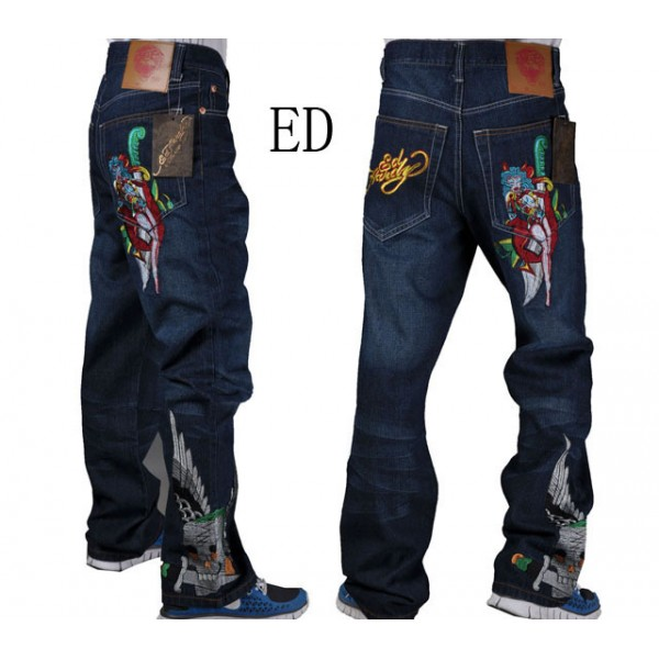 Ed Hardy Devil Girl Pictures Jeans Men Outlet