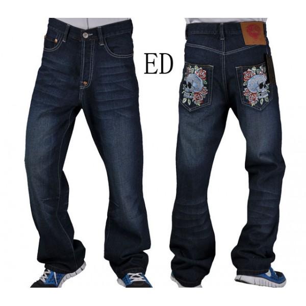 Ed Hardy Images Mens Jeans Skull Flower Store