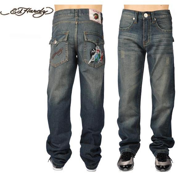 Ed Hardy Jeans Beauty Blue Denim For Men