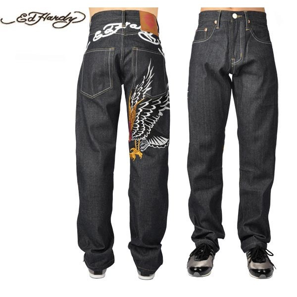 Ed Hardy Jeans Black Eagle Denim For Men