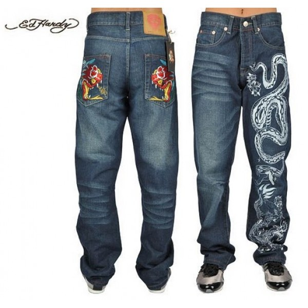 Ed Hardy Jeans China Dragon Cobra Denim For Men