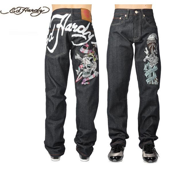 Ed Hardy Jeans Colorful Denim For Men