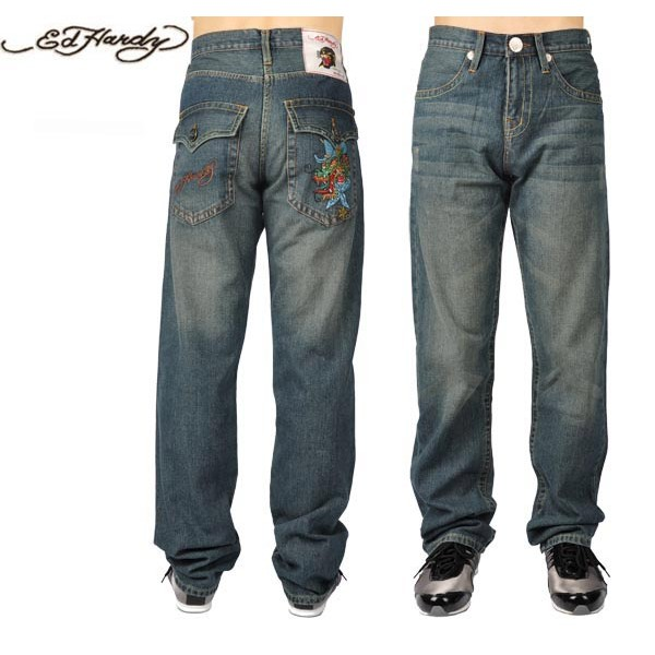 Ed Hardy Jeans Cowboy Dragon Denim For Men