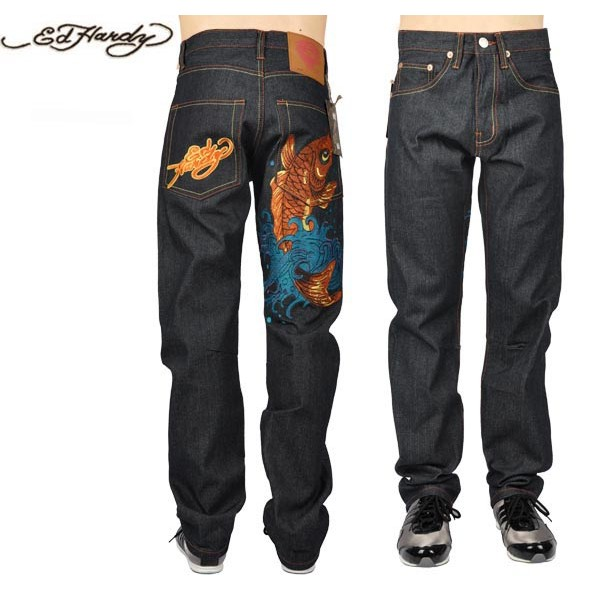 Ed Hardy Jeans Cyprinoid Black Denim For Men
