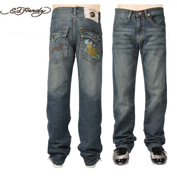 Ed Hardy Jeans Cyprinoid Washing Denim For Men