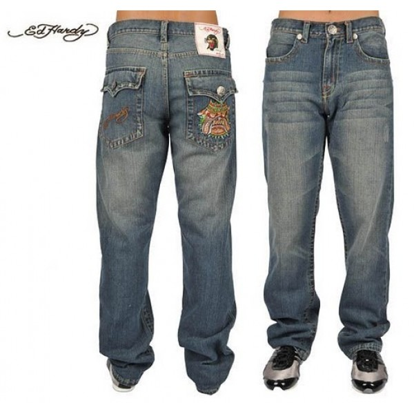 Ed Hardy Jeans DOG King Blue Denim For Men