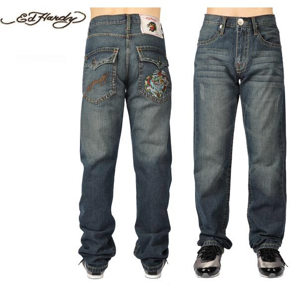 Ed Hardy Jeans Denim Blue Denim For Men