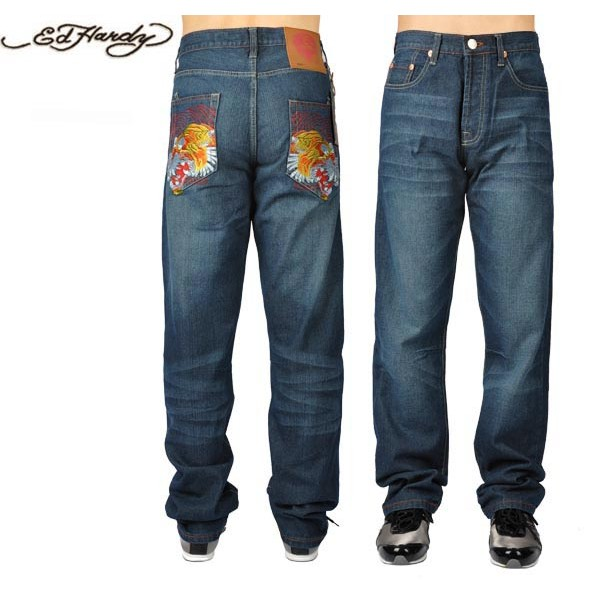 Ed Hardy Jeans Eagle Tiger Pocket Denim For Men