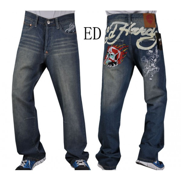 Ed Hardy Jeans Flame Skull For Men Tattoos Designs