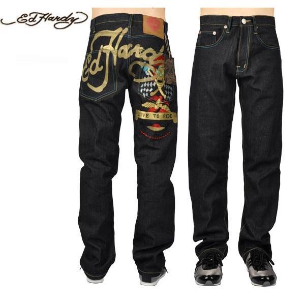 Ed Hardy Jeans Live To Die Black Denim For Men