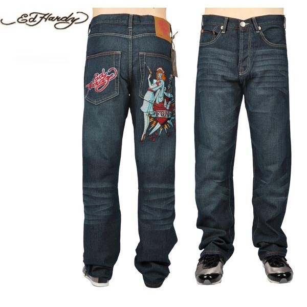Ed Hardy Jeans Nurse Fun Blue Denim For Men