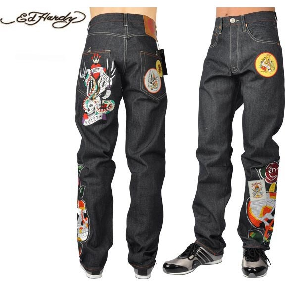 Ed Hardy Jeans Skull New York City Denim For Men