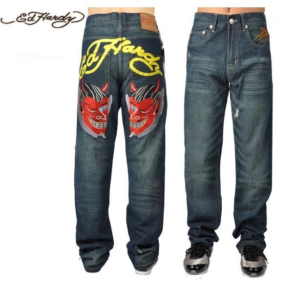 Ed Hardy Jeans Symmetric Devil Denim For Men