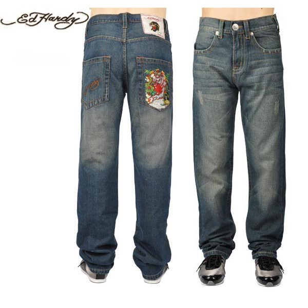 Ed Hardy Jeans Tiger And Dragon Denim For Men