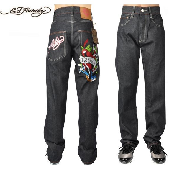 Ed Hardy Jeans True Bird Blue Denim For Men