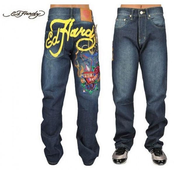 Ed Hardy Jeans True Love Blue Denim For Men
