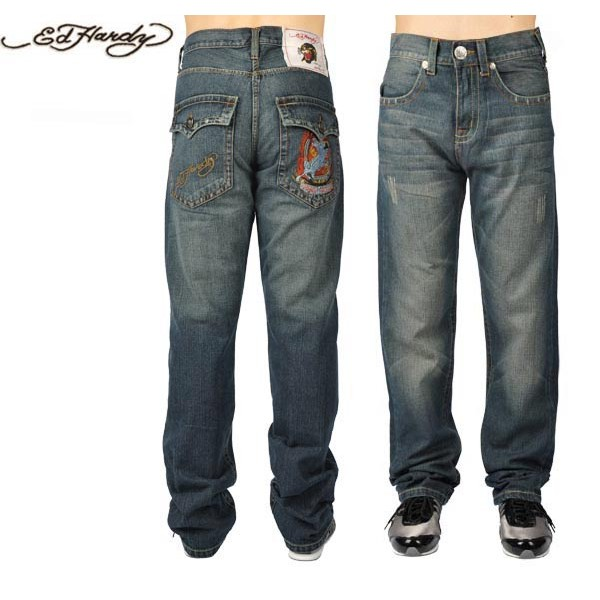 Ed Hardy Jeans White Tiger Denim For Men