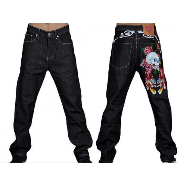 Ed Hardy Style Mens Jeans Tiger Skull Outlet Store