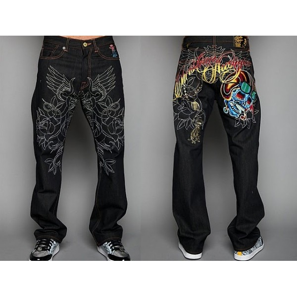 Ed and Hardy China Jeans Logos Store UK Skull