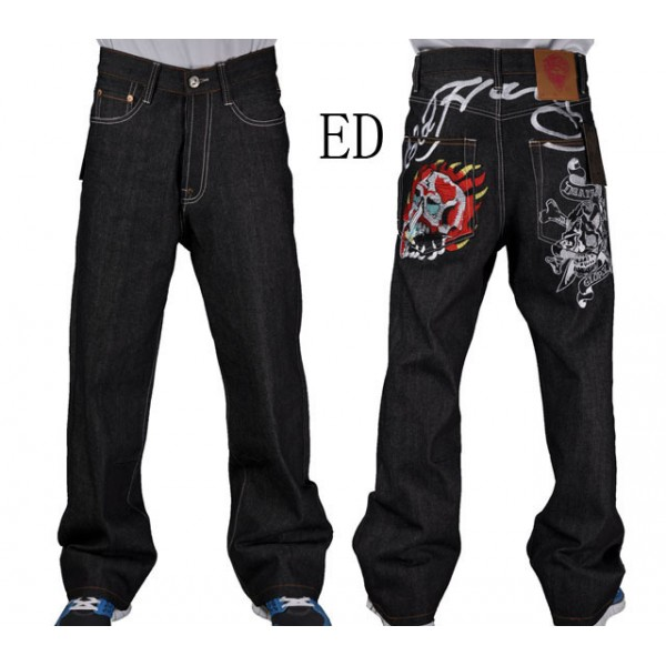 Flame Skull Ed Hardy Original Designer Jeans