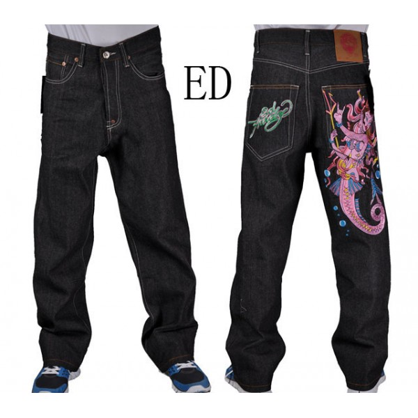 Mens Ed Hardy Fashion Jeans Mermaid Devil Sale