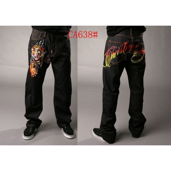 Sale Ed Hardy CA Men Jeans Tattoo Design Tiger