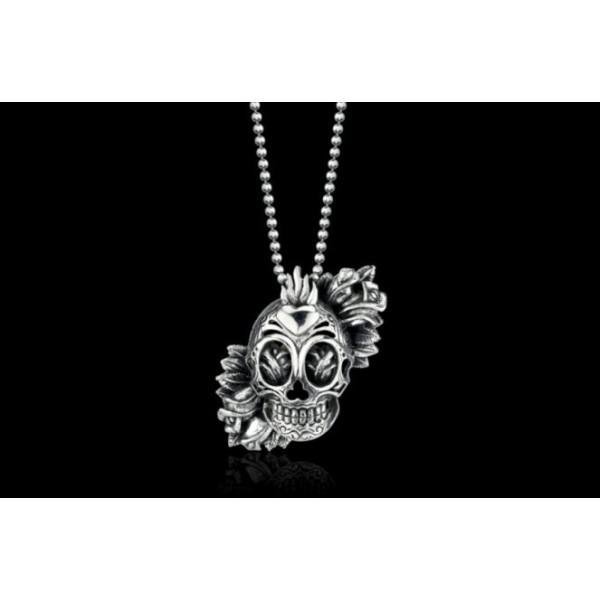 Christian Ed Hardy Skull Flower Jewelry Pendant