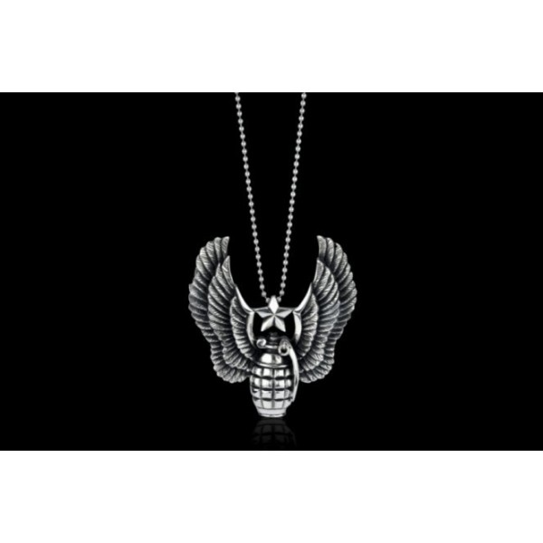 Discount Ed Hardy Shop Jewelry Pendant Grenades Wings
